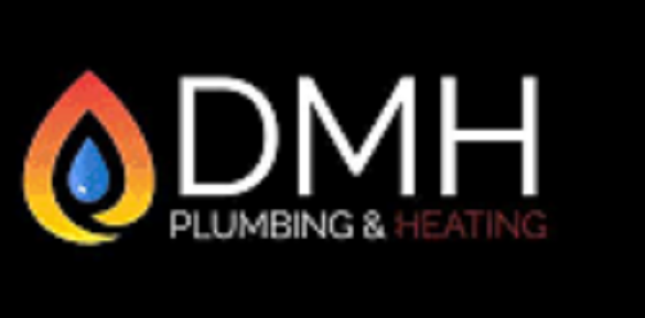 dmh logo black background